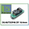 Adapter DIL48/TSOP48 ZIF 18.4mm