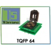 Adapter TQFP64-0,8mm ZIF WL- TQFP 64 ATmega103