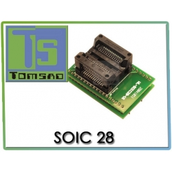 Adapter SOIC28 ZIF  SOIC 28 89c2051