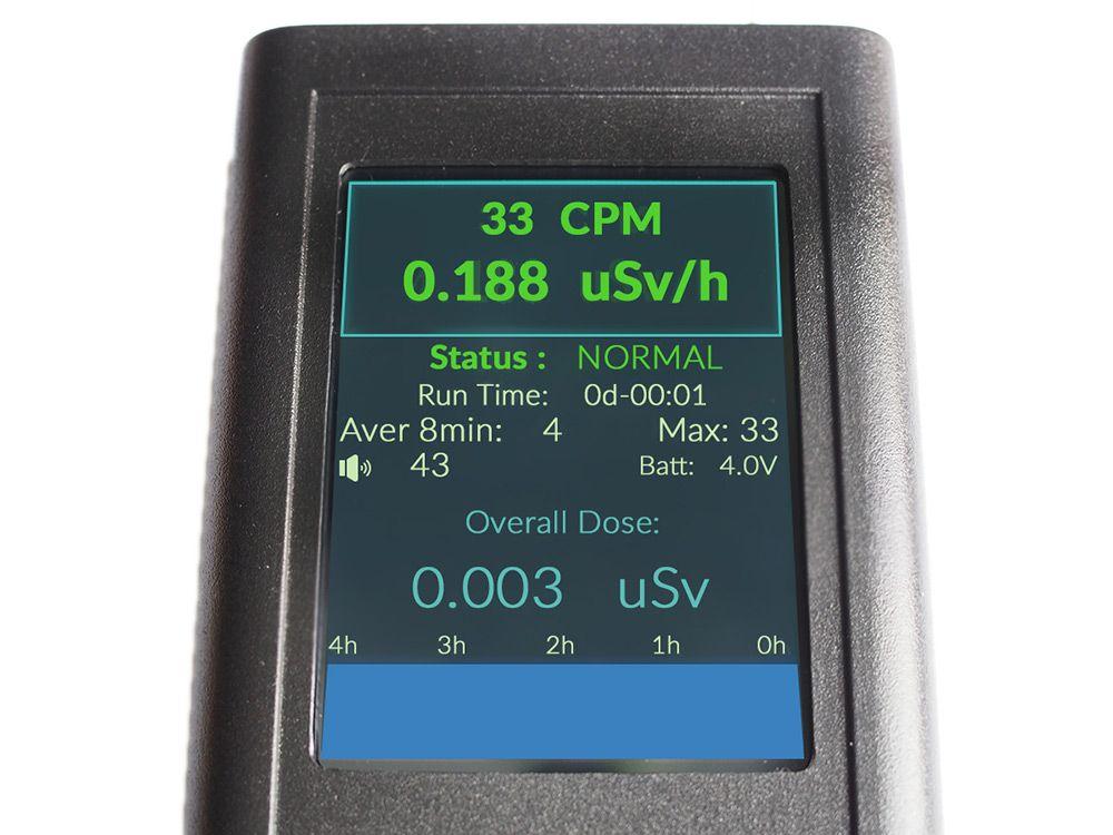 dozymetr ekran - pomiar radioaktywnosci