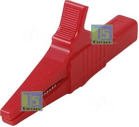 krokodylek bezpieczny czerwony 4mm