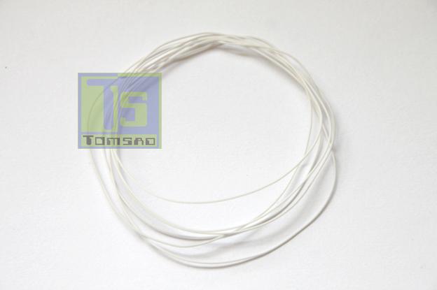 biały kynar - przewód montażowy