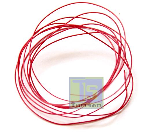czerwony kynar przewód montażowy