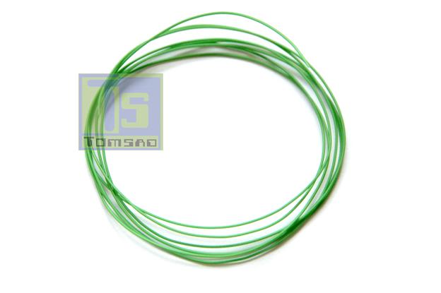 kynar kabel montażowy w kolorze zielonym