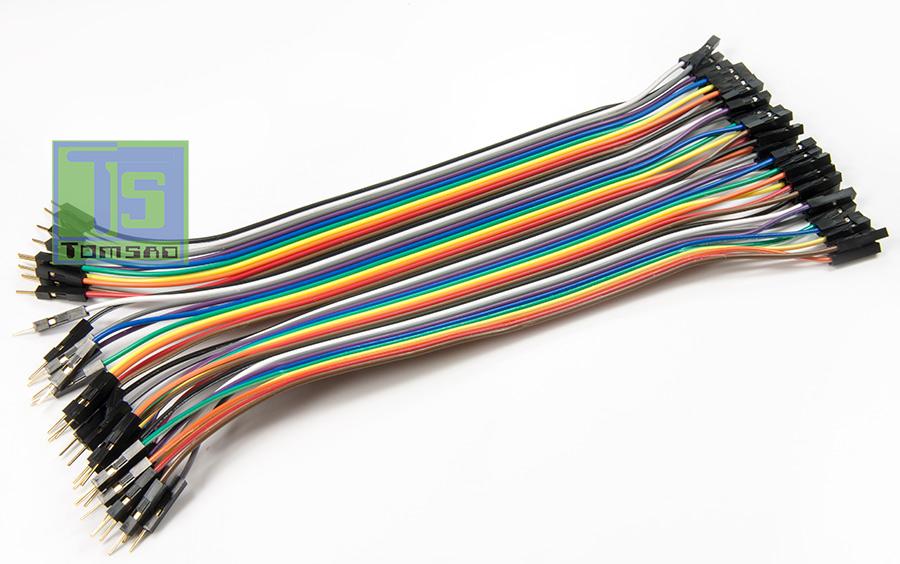 kable połączeniowe 40 sztuk męsko żeńskie