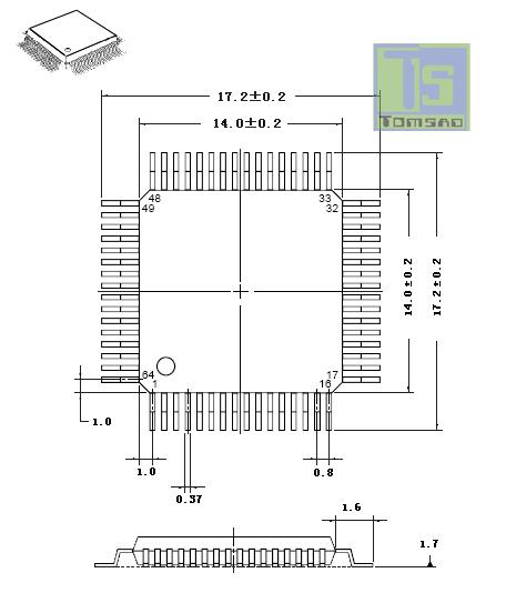 obudowa adpatera qfp-64