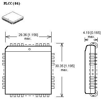 plcc84 zif adapter