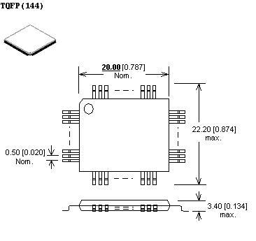 Adapter tqfp144 - układy pamięci