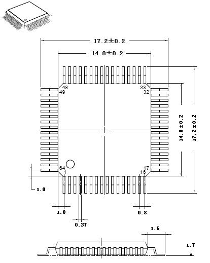 układy wspieranie QFP-64