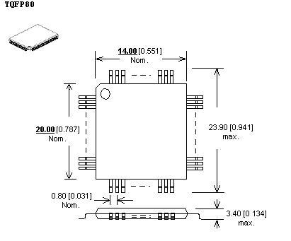 lqfp 80 adapter