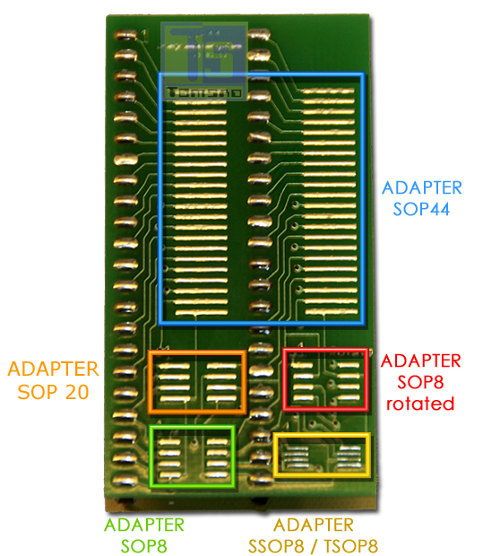 sop44/sop 16 - multiadapter