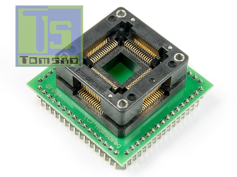 adapter qfp64 zif open top
