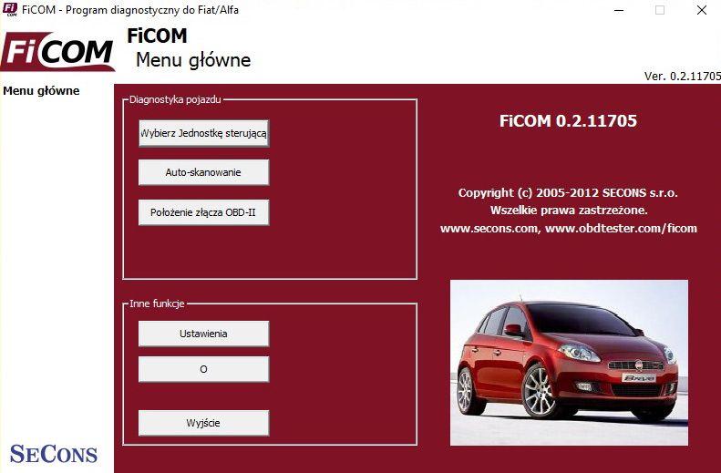 ficom menu główne