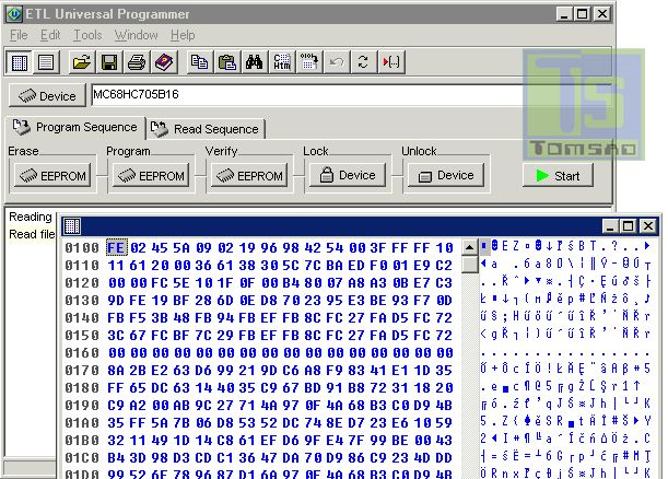 Programator układów MC68HC705B16/32