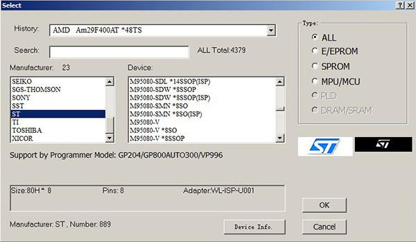 programator pamięci m95080