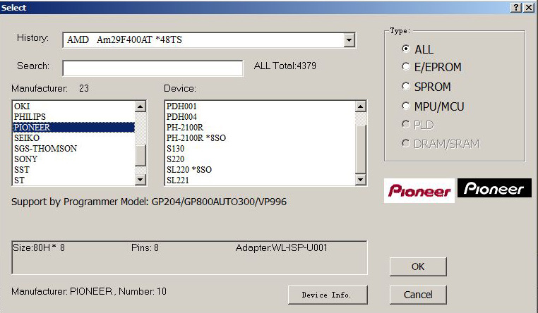 sl220 programator pamięci