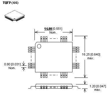 adapter tqfp64 zif