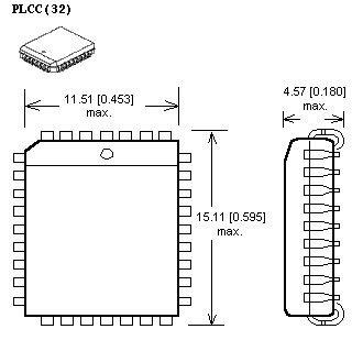 rysunek obudowy plcc32